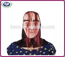 Carnival halloween latex heads bar props realistic horror Latex Mask grey hair ghost latex mask