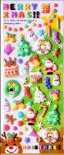 Custom New Cartoon 3D Puffy Sticker/Christmas Window Sticker