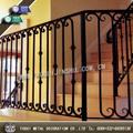 Ferro forjado decorativo trilhos da escada interior
