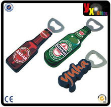 corkscrew can opener,wine accessory hot sale customized pvc bottle opener, magnet beer bottle opener