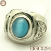 Fashionable Silver Rings Jewelry With Blue Opal Gemstone Hot Whole Classic