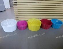 fashion colorful round plastic crates for bread