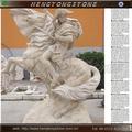 natrual pedra soldado romano homem com cavalo estátuas