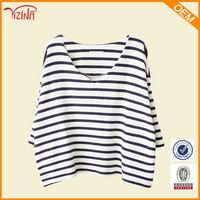 Custom v shape collar t shirt