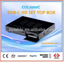 1080p hd digital tv set top box, support CONAX cas.digital cable tv system COL1080C