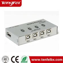 Type A Type B 4 Way Port hub usb 2.0 Manual Data sharing Switch