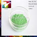 Pincel de pigmentos cerámicos esmalte de color color de la mancha de polvo del pigmento de pavo real verde para baldosas de cerámica y ladrillo de china fabricante