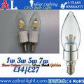 3w lampada della candela, 3w candela, 3w lampadina e14 disponibili 1w 2w 4w 3w 5w