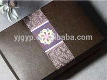 Nueva llegada! De promoción de la navidad modificado para requisitos particulares rectángulo caja de papel para embalaje del chocolate