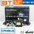 Bi Xenon HID Kit de AC 12 V / 24 v, 35 Watt H4 hi lo escondió bombilla de xenón