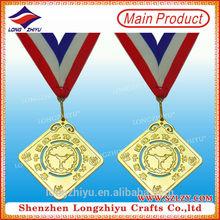 Square metal china medal copy sochi medal