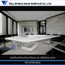 Excellent curved shape faux stone/solid surface unique corner desks