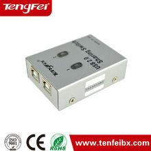 2 Port USB 2.0 Manual Printer Scanner Sharing Switch