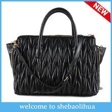 2014 hot seller Exclusive crease sheepskin CC handbag beautiful shoulder CC bags