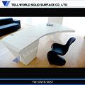 caliente 2014 comercial de ventas de la superficie sólida de acrílico escritorio de oficina accesorios