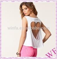 wholesale back cut-out tank top