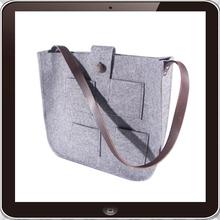 High quality practical polyester felt shoulder bag with lots of pockets