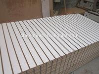 aluminum finished MDF slatwall display board