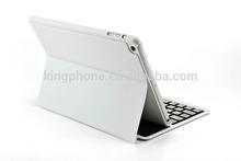 For ipad 5 Ultra-thin Bluetooth keyboard flip leather case, 100% high quality keyboard case