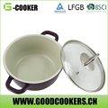el hotel es útil chef blanco antiadherente revestimiento de cerámica de cocina de aluminio olla
