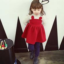 Taz1043 2014 winter red cute little rabbit flowers printed fashion children party wear dresses
