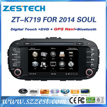 ZESTECH best price car dvd for Kia Soul 2014 car dvd with GPS,buletooth,ipod,RDS,3G +factory