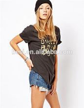 Dry fit printed t-shirts/women t-shirt/woman summer cotton t-shirt