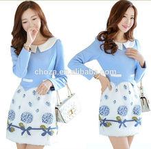 C27333A New Style Women Winter Woolen Dress High End Dress