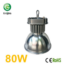 Greenlight CE, RoHS, TUV, ISO9000 Approved high power COB LED high bay light 80W Meanwell driver AC85-265V