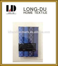 100% cotton fantasy hot sale popular men's gift box handkerchief