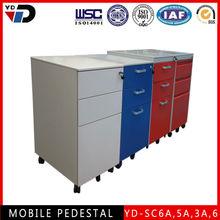 Metal mobile/moving drawer filling cabinet/Pedestal/mobile drawer units For Germany market