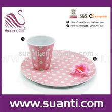 ตกแต่งบนโต๊ะอาหารเมลามีนถ้วยกาแฟขนาดเล็ก
