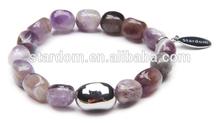 Shinning amethyst stone bracelets! Cheap amethyst stone bracelets wholesale!