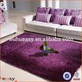 estilo moderno roxo de seda shaggy tapete com certificação do gv