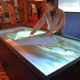 "55"" Interactive Multimedia Touch Table Kiosk; Information Floor Standing Kiosk, All In One Mirrow Kiosk"