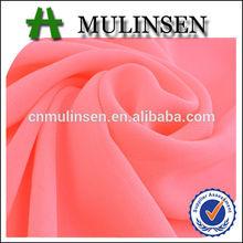 Mulinsen Textile Silk Like 100% Polyester High Twist P/D chiffon fabric Free Sample