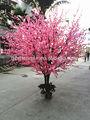 mesa de jantar decoração ramo de flores artificiais bonsai árvore