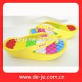 Tela de seda de la correa hermosa de la impresión únicos de las sandalias sandalias y zapatillas