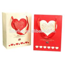 Full Heart Red&White Paper Gift Bag