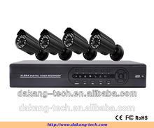 4ch dvr kit, CMOS 800tvl bullet camera,p2p cloud DVR kit system