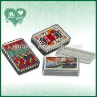 Wavy Edge P.S Material Rigid Plastic Playing Card Box