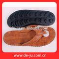 tela de seda hermosa correa deimpresión suela los hombres sandalias sandalias zapatillas