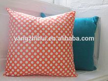 Cute Polka Dot cushion cover,Tangerine Spotty cushion cover,solid color cushion cover