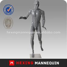 Glosssy grey basketball fiberglass sport mannequin