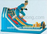 2014cool skiing man shape slide/inflatable slide/inflatable water slide on sale!!!