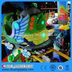 China Air bike amusement rides, Kiddie Amusement Elephant Track Train Set Indoor Funfair Train Ride