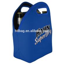 customized neoprene portable 6 bottle wine beer ice cooler tote bag