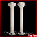 Mármol blanco tallado exterior romano decorativos pilares de piedra