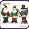 Resin christmas santa &snowman figurine
