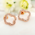 wholesale colover rose gold earring with zircon